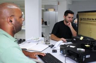 Técnico em TI, Wendel Fabiano Ribeiro da Silva (esq.), e analista de sistemas, Rodrigo Valceli Raimundo (dir.)